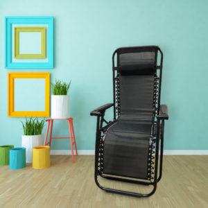 כסא חמישה מצבים בצבע שחור