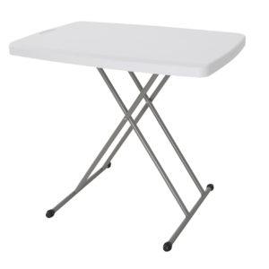 """שולחן 76X50 ס""""מ קמפ אין לבן"""
