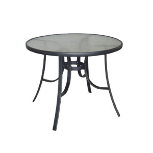 שולחן ביסטרו 100 CM מסגרת שחורה