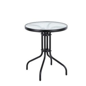 """שולחן ביסטרו עגול 60 ס""""מ מסגרת שחורה"""