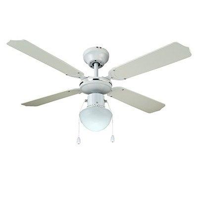 מאוורר תקרה '42 מיאמי לבן HY J42003/W Semicom