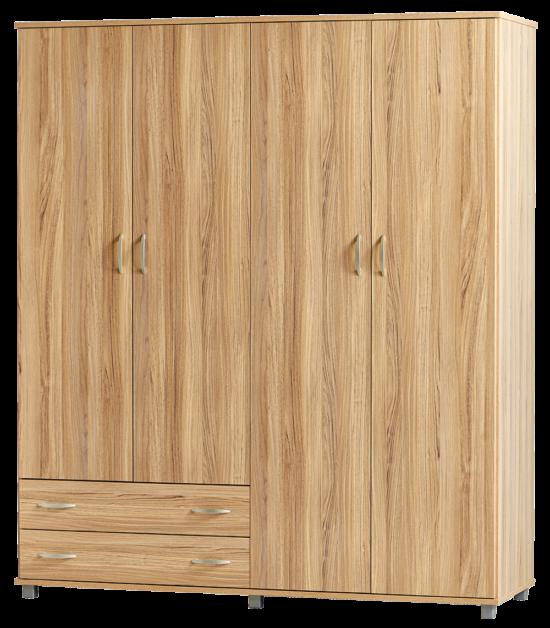 ארון 4 דלתות + 2 מגירות ''יראון''-אלון