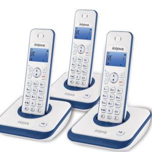 טלפון אלחוטי + 2שלוחות ANN3000 אינובה