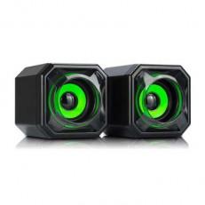רמקולים למחשב 2X5W שחור/ירוק CS2