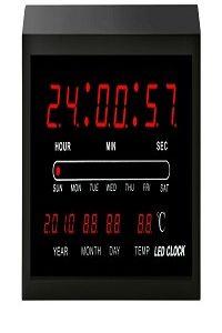 שעון קיר+תאריך SKL3515 דיגטלי 104149