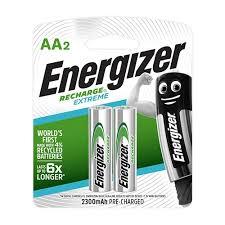 זוג סוללות AA נטענת EXTREME אנרגייזר 2300MA