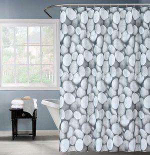 וילון אמבטיה 180*180 אבנים פוליא
