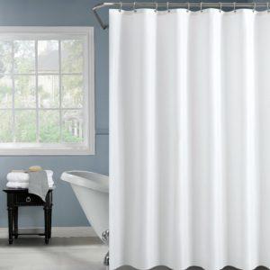 וילון אמבטיה 120*180 לבן פוליאסטר