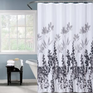 וילון אמבטיה 120/180 פרח שחור
