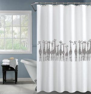 וילון אמבטיה 120*180 ג`ירפות