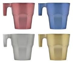 קזבלנקה פאסטל סט 4 כוסות אספרסו