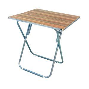 שולחן מתקפל דמוי עץ מרובע