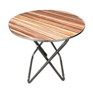 שולחן מתקפל דמוי עץ עגול