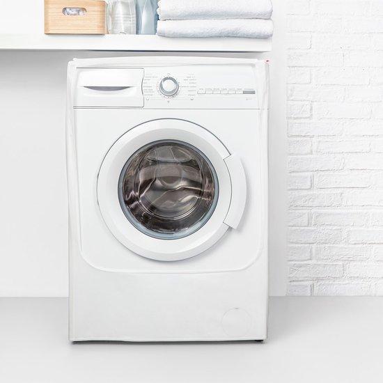 כיסוי למכונת כביסה/מייבש כביסה פתח תחתון לבן