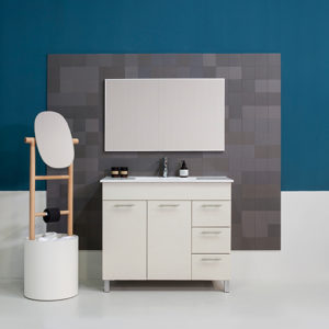 ארון אמבטיה פולקה 60 + כיור + מראה