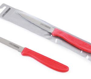 """פרו פירות – סכין משוננת 10 ס""""מ  ידית אדום 24/240  CDU"""