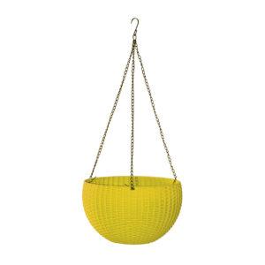 סלסלת תלייה חנה 28cm x H16 - צהוב