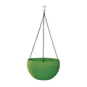 סלסלת תלייה חנה 28cm x H16 -ירוק יער