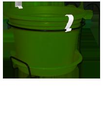 קיט עציץ גפן למעקה- ירוק כהה