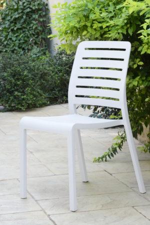 כסא שארלוט קנטרי  - לבן