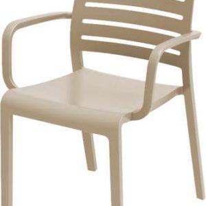 כסא שארלוט קנטרי עם ידיות - קפוצינו