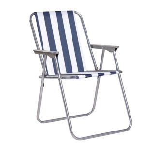 כסא חוף מתקפל כחול /ירוק