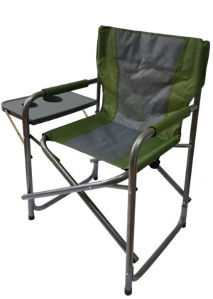 כסא קמפינג מתקפל עם שולחן צד