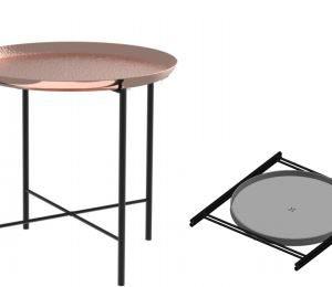 שולחן  במראה נחושתי בודד  -ברזל