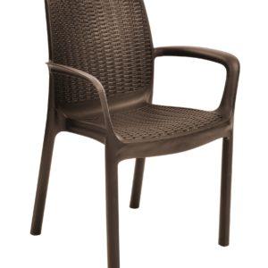 כסא באלי BALI חום - כתר