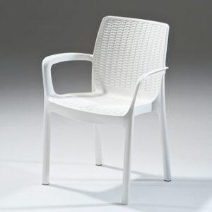 כסא באלי BALI לבן - כתר