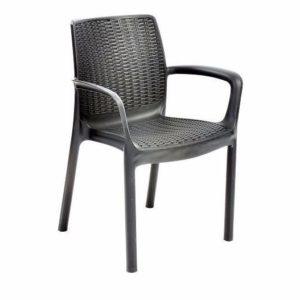 כסא באלי BALI אפור -כתר