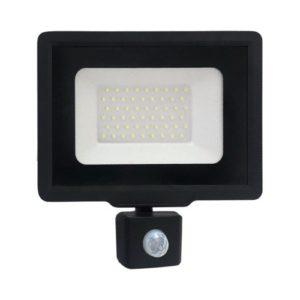 פנס הצפה שחור SMD IP65 50W MIRAGE כולל חיישן אור קר
