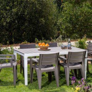 סט שולחן ו-6 כסאות אירוח - HOLIDAY