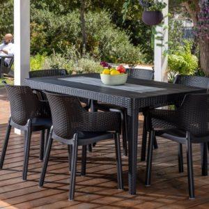 סט שולחן ו-6 כיסאות אירוח אלגנט KETER ELEGANT GRAY