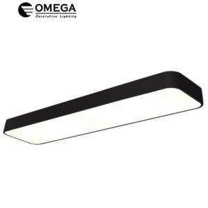 גוף תאורה צמוד תקרה בליני מלבני שחור 90W אור יום