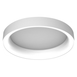 צמוד תקרה/קיר עגול סדרת טורוס גוף לבן