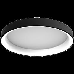 צמוד תקרה/קיר עגול סדרת טורוס גוף שחור