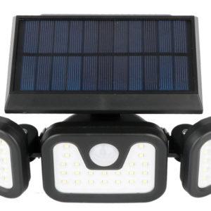 תאורת חוץ סולרית עם חיישן תנועה 74 לדים - פרוז'קטור