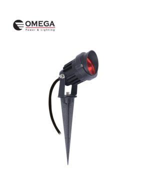 דוקרן גינה מוגן מים ספייק LED אור אדום 12V