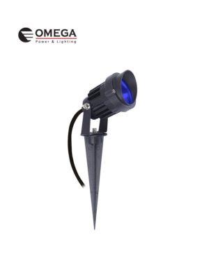 דוקרן גינה מוגן מים ספייק LED אור כחול 12V